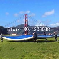 Frete Grátis 4 * 4 * 0.2 m Esteira de Acampamento Ginástica Tapete de Ar Matagal Com Bomba de Ar Piso para Uso Doméstico, Praia, parque e Água