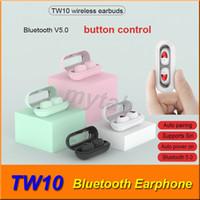 TW10 Bluetooth наушники мини беспроводные TWS наушники кнопка управления активация Siri наушники Наушники микрофон бинауральный вызов для смартфона