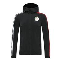 2020 algeria calcio con cappuccio giacca a vento cerniera mens giacca a vento superiore della chiusura lampo del hoodie Sportswear Running Giacche