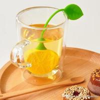 Оптовая 1000шт Пищевая Лимонный форма ситечки для чая Силиконовые Пакетик Tea Leaf Сито Infuser Чайник Чайная Фильтр мешок Инструменты Фильтр
