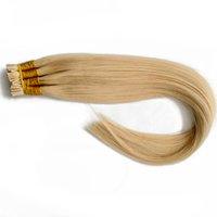 """Top qualité 200ST st indienne remy kératine italienne I / U / V / plat extensions de cheveux de pointe 16 '' 18"""" 20"""" 22"""" Blond Couleur # 613, gratuit DHL"""