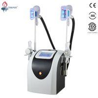4 alças de cavitação máquina rf cryolipolysis com duas alças crio trabalho, ao mesmo tempo para a congelação de gordura terapia de perda de peso de crio