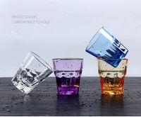210ml acrylique verres à boire Incassable jus Premium verres Tumbler plastique Verres à vin de couleur variées tasses d'eau jus Gobelets