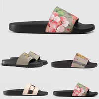 Hot Sale 2019 Summer Mens Ace Designer Slippers Floral broca...
