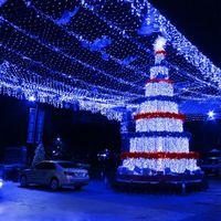 8mx10m 2000 Led 110V 220V super helle Netzmaschenschnurlicht Weihnachten Weihnachtslicht des neuen Jahres Garten Rasen Hochzeit Urlaub Beleuchtung US EU-AU Großbritannien