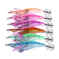 20 unids 2.5 # luz señuelo de la pesca 10.5 cm 13 g LED camarón electrónico calamar gancho calamar plantillas aparejos de pesca
