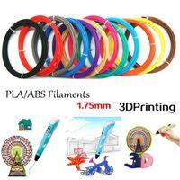 3D ABS нити принтера / PLA 1.75mm пластиковый материал 5M / 10M для 3D пера рисования и печать игрушка DIY печать рейсфедера