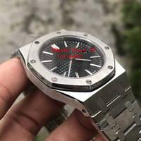 2019 Hot Vente de montres de luxe pour hommes Quartz Mouvement cadran bleu Série Mens Watch 15202 en acier inoxydable Mens Montres DP usine
