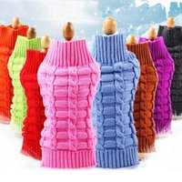 Classic Small Pet Dog Kitten Knitted Turtleneck Jumper Cloth...