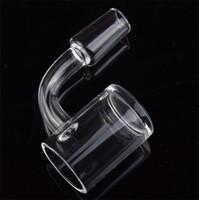 4 mm starke untere 45 90-Grad-Quarz banger Nagel 10mm 14mm 18mm männlich weiblich klar Gelenk Domeless Quarz Nagel für Bohrinseln