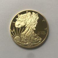 10 Pcs A liberdade Eagle 2020 badge banhados a ouro 24K 40 milímetros gota moeda comemorativa estátua liberdade americana lembrança transporte moedas aceitáveis