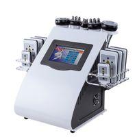 Nouvelle arrivée 6 en 1 40k Cavitation ultrasonique Aspirateur radiofréquence Laser 8 Pads Lipo Laser Minceur Machine pour usage domestique 6 commandes