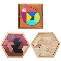 150pcs Padrão Puzzles magnéticos Tangram Jigsaw Brinquedos Crianças Enigma de madeira Brinquedos Desafio sua magia QI Livro Set Criança Toy Educação