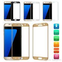 vente chaude téléphone portable protecteurs D'Écran En Verre Trempé 9 H Pleine Couverture Protecteur D'écran pour Samsung Galaxy S8 S8 Plus S7 S7 bord e196