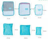 Новая сумка для путешествий из шести частей многофункциональная сумка для хранения багажа сумка для хранения из 6 предметов 900PCS / lot = 150 комплектов