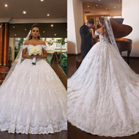 Wedding Dresses Bridal Ball Gowns Lace Princess Off Shoulder...