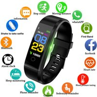 115Plus Smart-Armband Heart Rate Monitor Armband Fitness Tracker Farbe Screen Call Nachricht Erinnerung Pedometer-Uhr