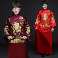 Male Cheongsam ethnic clothing Chinese ancient costume men&#...