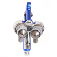 HVLP Spray Gun Paint Spray Tool Air Compressor Sprayer Doubl...