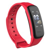 Fitness Tracker الذكية سوار C1PLUS شاشة اللون الأساور ضغط الدم معدل ضربات القلب رصد الفرقة C1S للرياضة ووتش الروبوت