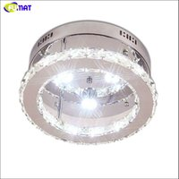 FUMAT LED Ceiling Light Luminaria Crystal Ceiling Lighting Fixtures Lustre Aisle Ceiling Lamps For Living Room Lights