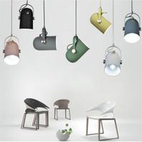 Minimalismo nórdico droplight Ângulo ajustável E27 pequenas luzes pingente, lâmpada de iluminação de decoração para casa e Bar Showcase spot light
