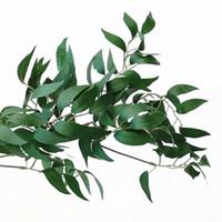 محاكاة زهرة الكرمة الزفاف الاحتفال الصفصاف الورقة الخضراء اللون الشظية تعليق على الحائط رومانسية حزب القش ديكور جديد Arriaval 16hzE1