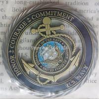 قيم البحرية الامريكية / كور - USN تحدي عملة البحرية النادرة بحار هدايا المقتنيات التذكارات
