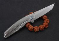 Alta qualità Flipper coltello pieghevole M390 Tanto lama TC4 lega in titanio maniglia cuscinetto a sfere di campeggio esterno di EDC tasca pieghevoli Coltelli