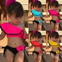 2019 kinder baby mädchen badeanzug bikini badebekleidung badeanzug blau gestreiften sommer nette zweisteine oder einteilige set strandwear kleidung