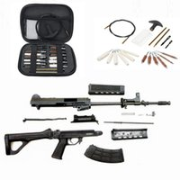 19pcs Tüfek tabanca fırçası Bu kit ile 0,20-0,25 kalibre temizlenebilir olan yüksek kaliteli bakır tel fırça şey ayarlayın.