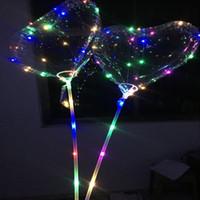 Globo Celebrity Web decoración de la boda Día tienda de decoración globo transparente LED Claro Bobo bola de destello de San Valentín