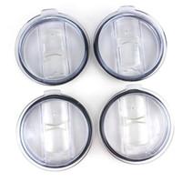투명 플라스틱 컵 뚜껑 (20) 30온스 자동차 맥주 머그컵 스플래쉬 유출 증거 DHA595에 대한 스위치 커버 음료 용기의 뚜껑을 슬라이딩