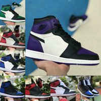 Mens Women 1 High OG Basketball Shoes Bred Toe Banned Royal ...