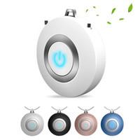 Purificateur d'air portable Collier mini Portable USB Cleaneur d'air négatif Générateur d'ions à faible bruit Garder la santé dans les voyages pour enfants adulte
