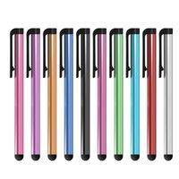Capacitiva universal de la pluma de la aguja para el teléfono móvil pantalla tactil para el teléfono celular para la tableta de diversos colores 2000pcs / lot