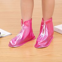 Zapatos cubierta impermeable a prueba de agua zapatos lluvia botas antideslizantes zapatos lluvia botas de plástico cubierta de PVC del recorrido al aire