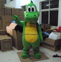뜨거운 새로운 요시 공룡 마스코트 의상 성인 크기 녹색 공룡 만화 의상 파티 화려한 드레스 2,019 공장