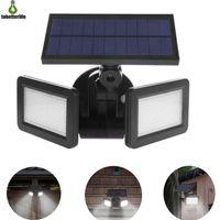 Bahçe Yard Peyzaj için 48 LED Güneş Duvar Işık Çift Kafa Açık Ligting su geçirmez LED PIR Hareket Sensörü Güneş Lambası Güvenlik Işık