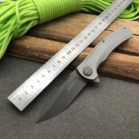 Kershaw 3490 Couteau Titanium tactique pliant Hinderer Conception Flipper Chasse Camping survie Couteau de poche 8Cr13MoV Utilitaire EDC Collection
