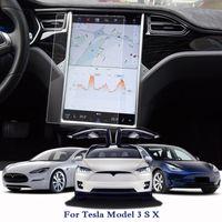 سيارة التصميم لوحة سيارة الطلاء واقية الفيلم لتسلا موديل S 3 X GPS شاشة السينما واقية سيارة الملحقات الداخلية