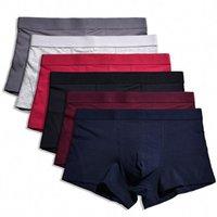 Givanildo 6pc / lot Boxeurs Shorts Homme Sous-Gay Les Boxeurs hommes Ropa Intérieur Tissus cardage XXXL Big Bokserzy Y816