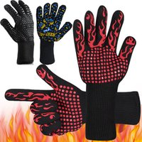 500 Celsius Heat Resistant Gloves Great For Oven BBQ Baking ...