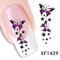 waterproof water decals Transfer Nails Art Sticker butterfly...
