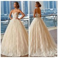 빈티지 아이보리 전체 레이스 A 라인 웨딩 드레스 2020 저렴한 연인 목 플러스 사이즈 정원 나라 신부 가운 Vestidos 드 결혼