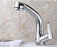 2020 Hot et plat froid type pull cuisine lavabo robinet évier extension rotative évier tout ménage robinet de cuivre Robinets de cuisine
