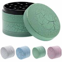 New 63mm Grinders Pattern Crack 4 pièces Herb Spice Crusher Fait de Alunimum en alliage 5 couleurs en option Grinder métal