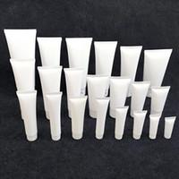 5 мл-300 мл белая пластиковая мягкая трубка косметическое очищающее средство для лица Крем для рук шампунь упаковка Squeeze бутылки 100 шт. / лот многоразового использования компакты хорошо