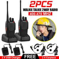 2 pcs Baofeng BF-888S Walkie Talkie Dois way Rádio 16CH 5W 400-470MHz Portátil Handheld Radio Set 1500mAh para caçar rádio