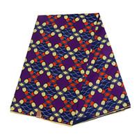 Polyester Wax Stampe Tessuto 2021 Ankara Binta Cera Reale di alta qualità 6 yards Tessuto africano per abito da festa FP6022